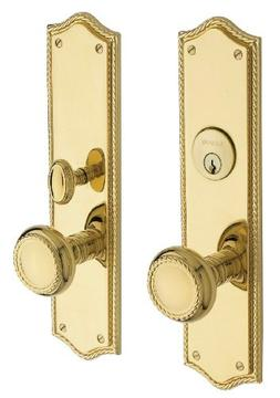 Baldwin Hardware 6554.003.ENTR Barclay Knob Entrance Front D
