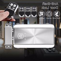 Home Remote Control Door Lock Wireless Anti-theft Security A
