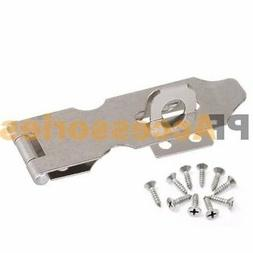 """3"""" inch Zinc Plated Safety Hasp and Staple for Gate Door Cab"""