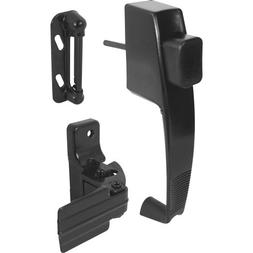 Prime-Line K 5071 Push Button Latch with Tie Down, Black