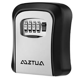 AUTSCA Key Lock Box Wall Mounted Stainless Steel Safe Weathe