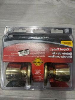 keyed entry door lock set bright brass