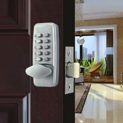 Digital Mechanical Door Lock Code Push Button Keyless Oval C