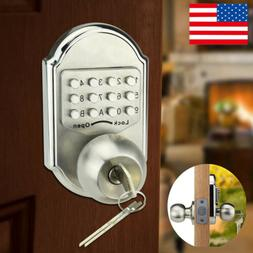 Keyless Stainless Steel Door Lock Set Knob Deadbolt Mechanic