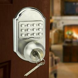 Keyless Keys Deadbolt Door Lock Stainless Steel Keypad Code