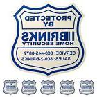 1 HOME SECURITY YARD SIGN and 5 STICKERS / DECALS FOR DOORS