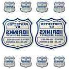 2 HOME SECURITY YARD SIGNS AND 8 SECURITY DECALS STICKERS  B