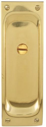 "Emtek 2105 7-1/2"" Height Solid Brass Privacy Pocket Door Mor"