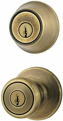 Kwikset 690T Tylo Keyed Single Cylinder Knobset & Deadbolt C