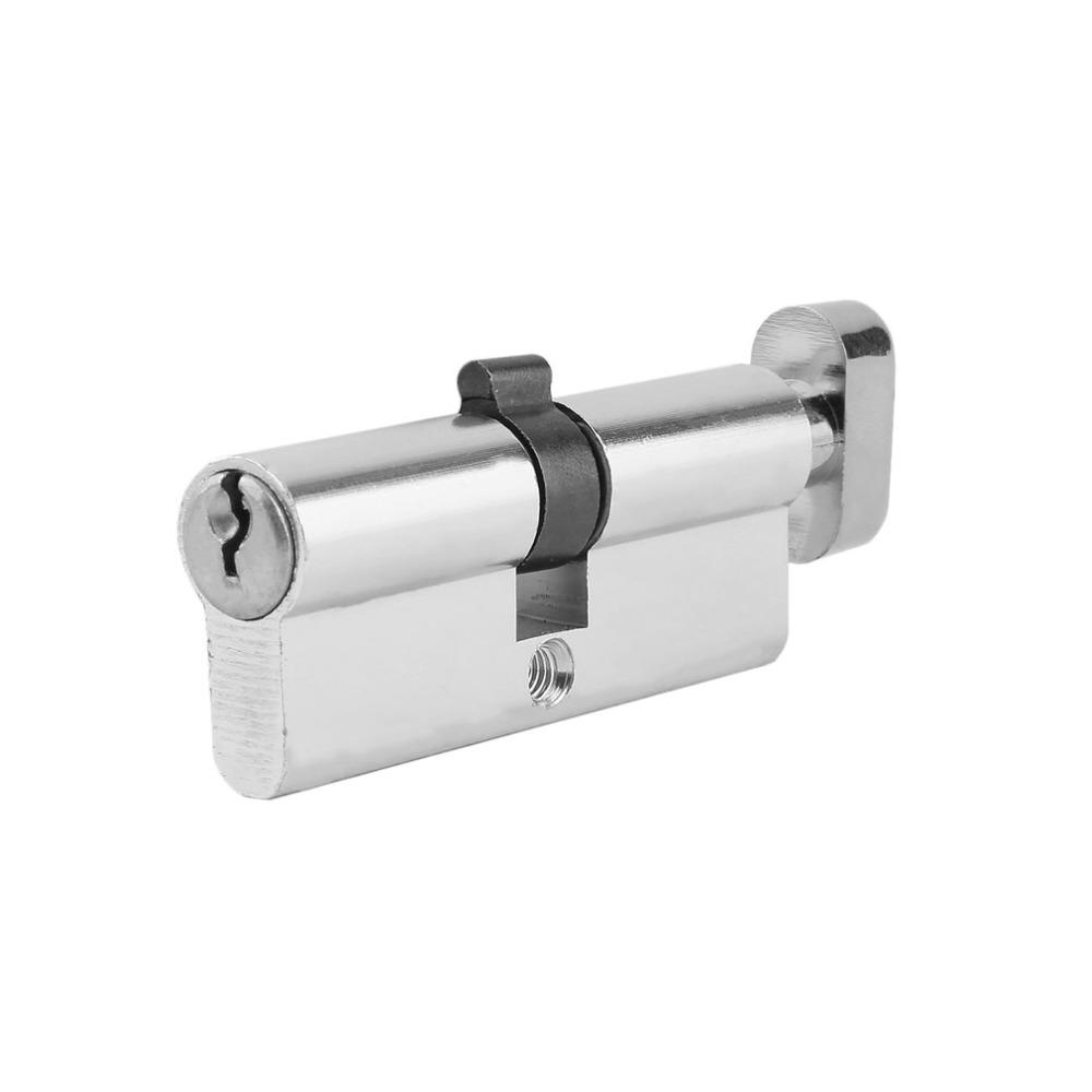 70mm <font><b>Lock</b></font> Cylinder Home Anti-Snap Anti-Drill With Keys Silver