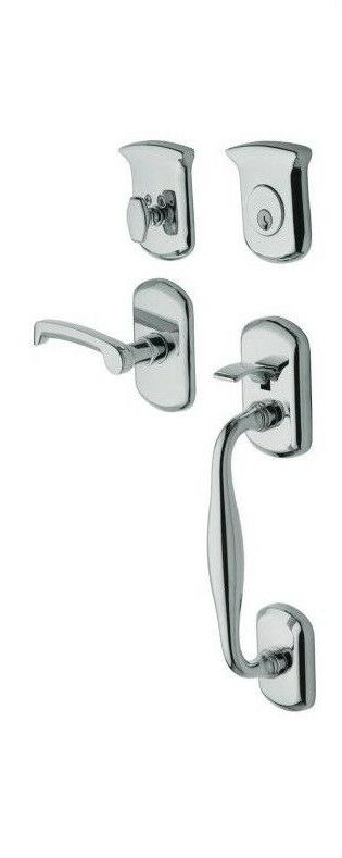 Baldwin Entry Exterior Door Lock RH Handle Set Double Cylind