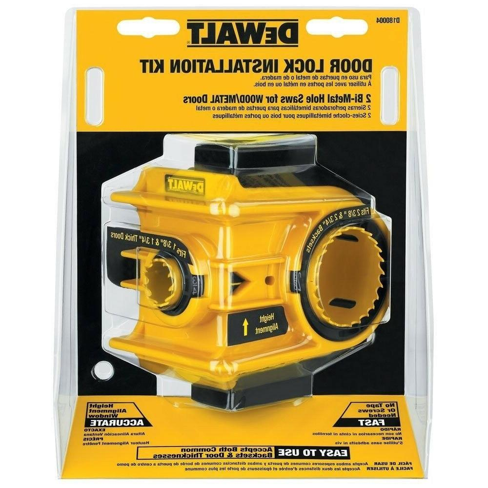 DEWALT D180004 Bi-Metal Door Lock Installation Kit, NEW!