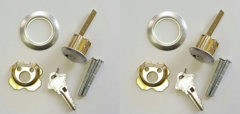 Pair of Garage Door Lock Key Lock Cylinder ~Same Day Shippin