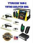 SCYTEK A777 CAR ALARM SYSTEM WITH KEYLESS ENTRY & LCD 2-WAY