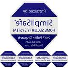 SIMPLISAFE HOME SECURITY YARD SIGN WITH 4 SECURITY STICKERS