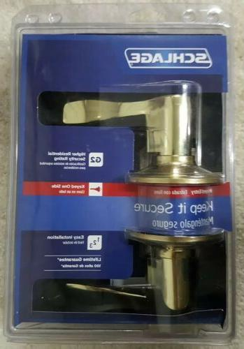 accent bright brass keyed entry lever f51