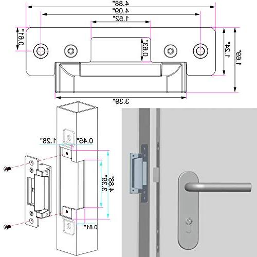 UHPPOTE ANSI Heavy Duty Electric Strike Lock Fail Safe Adjustable