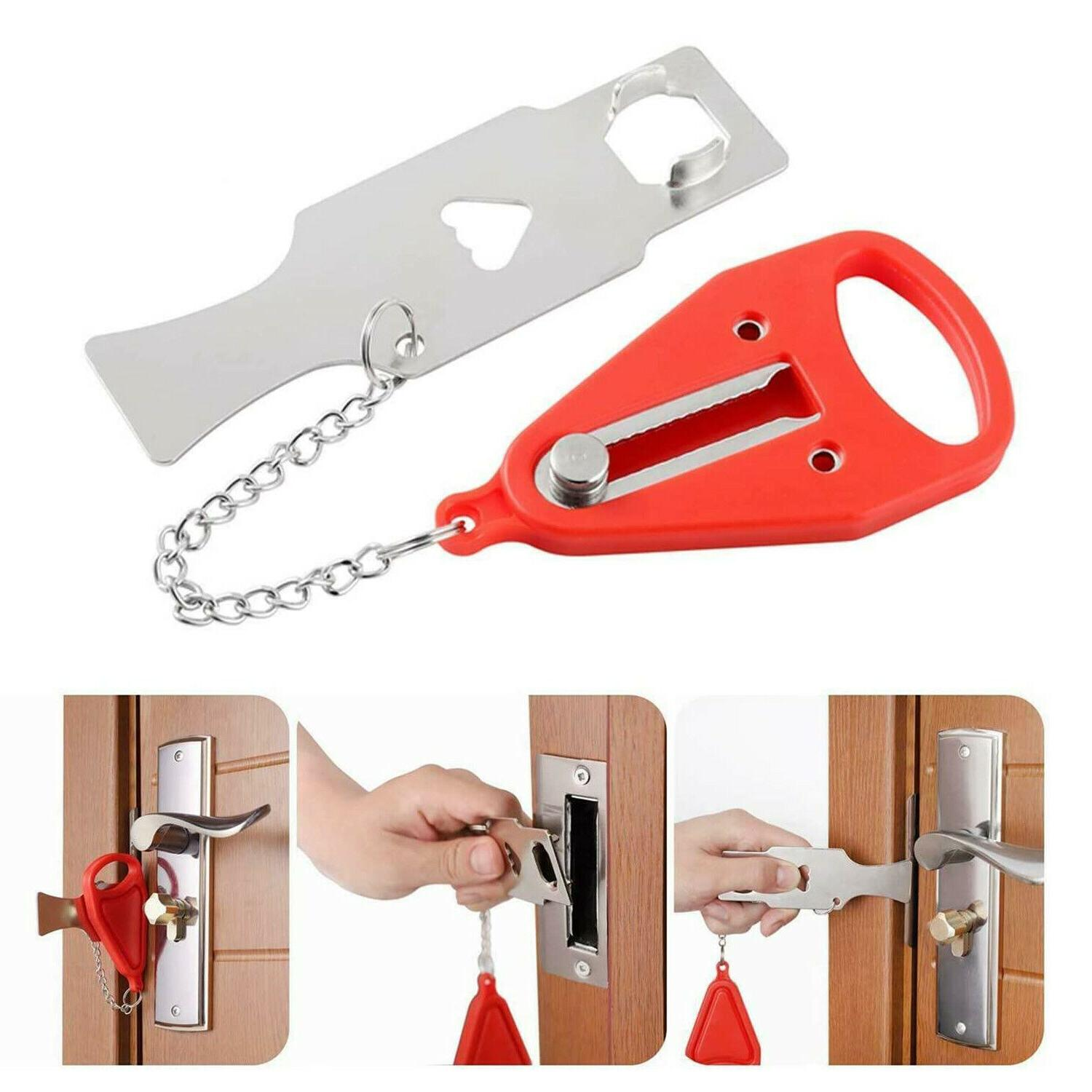 2SET Portable Security Door Lock Hardware Safety Tool Home P