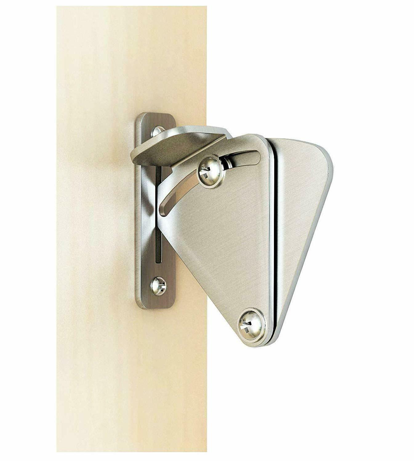 DIYHD Sliding Barn Latch With Pin,Black/Brushed
