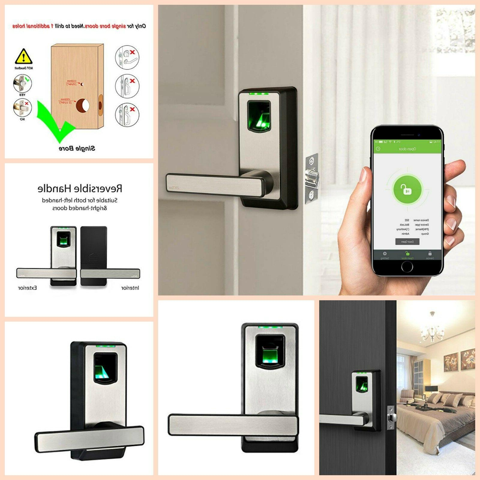 Biometric Fingerprint Door Lock Bluetooth Keyless Electronic