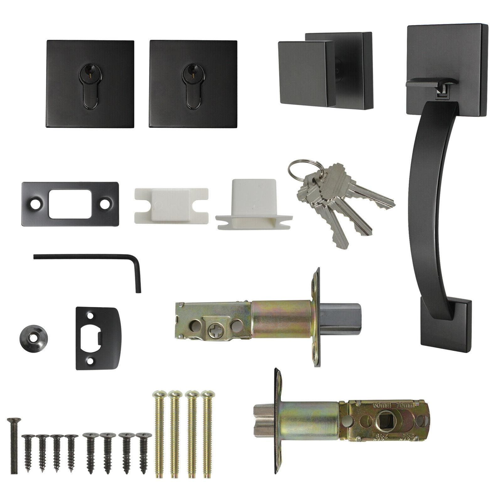 Probrico Exterior Entry Door Lock set Double Deadbolt keys
