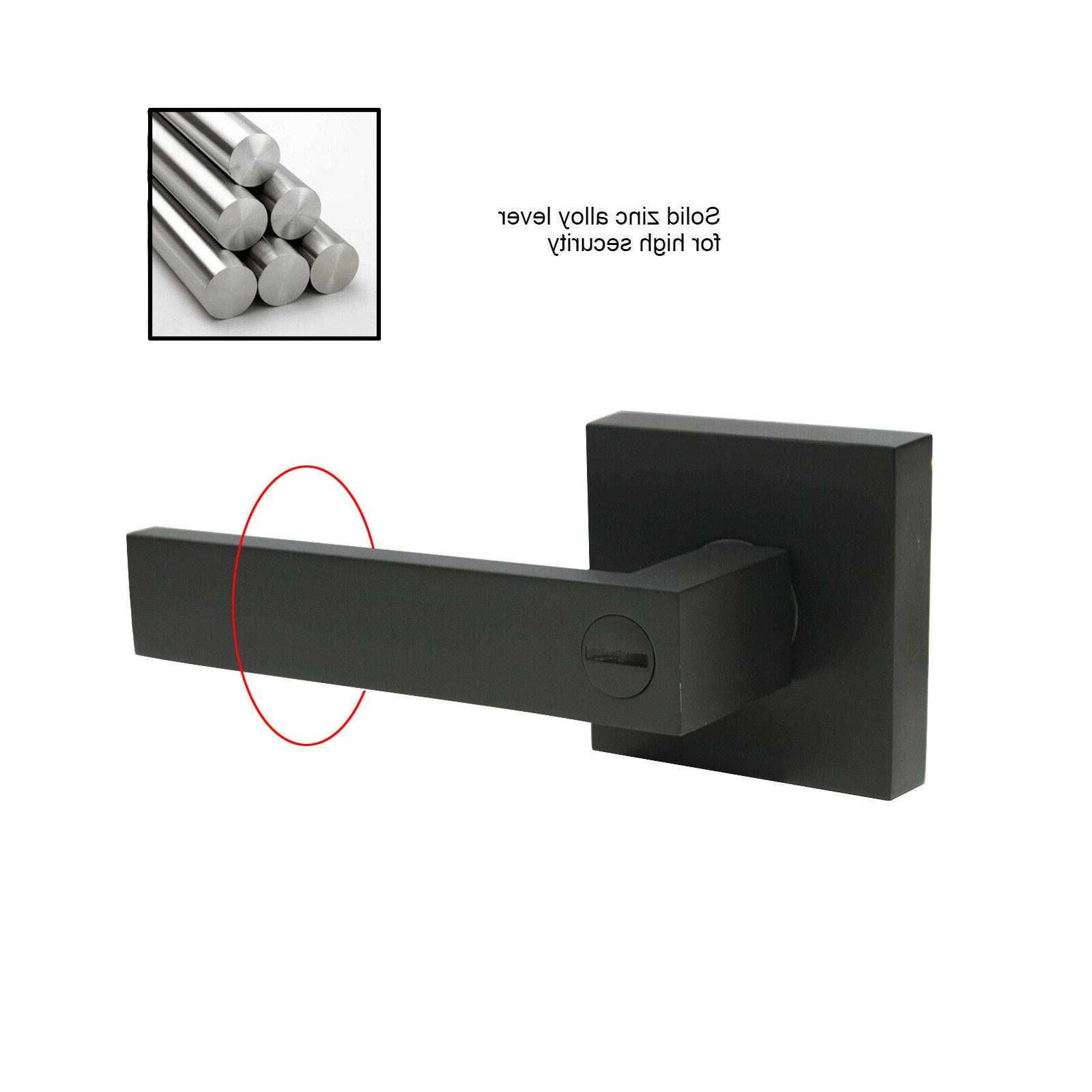 Black Handles Privacy/Passage/Entry Lock