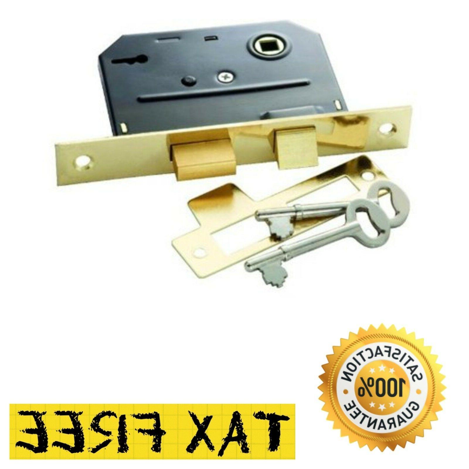 Brass Faceplate Bit Key Mortise Lock Replacement Hardware Do