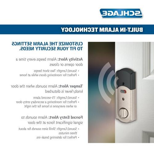 Schlage Deadbolt and Accent Nickel, FE469NX RH, Works
