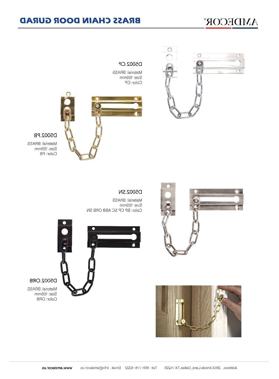 d5002 solid brass chrome chain door guard