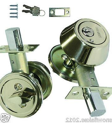 deadbolt steel door lock 2 keys