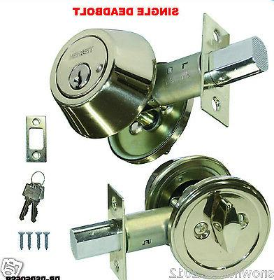 deadbolt single cylinder stainless steel door lock