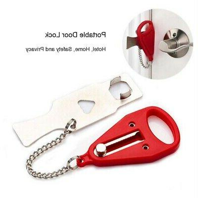 Travel Door Lock Safety Security Privacy Portable Hotel Scho