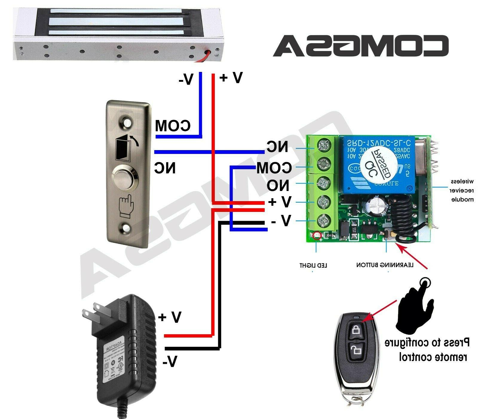 Door Access Control Electric Wireless Controls