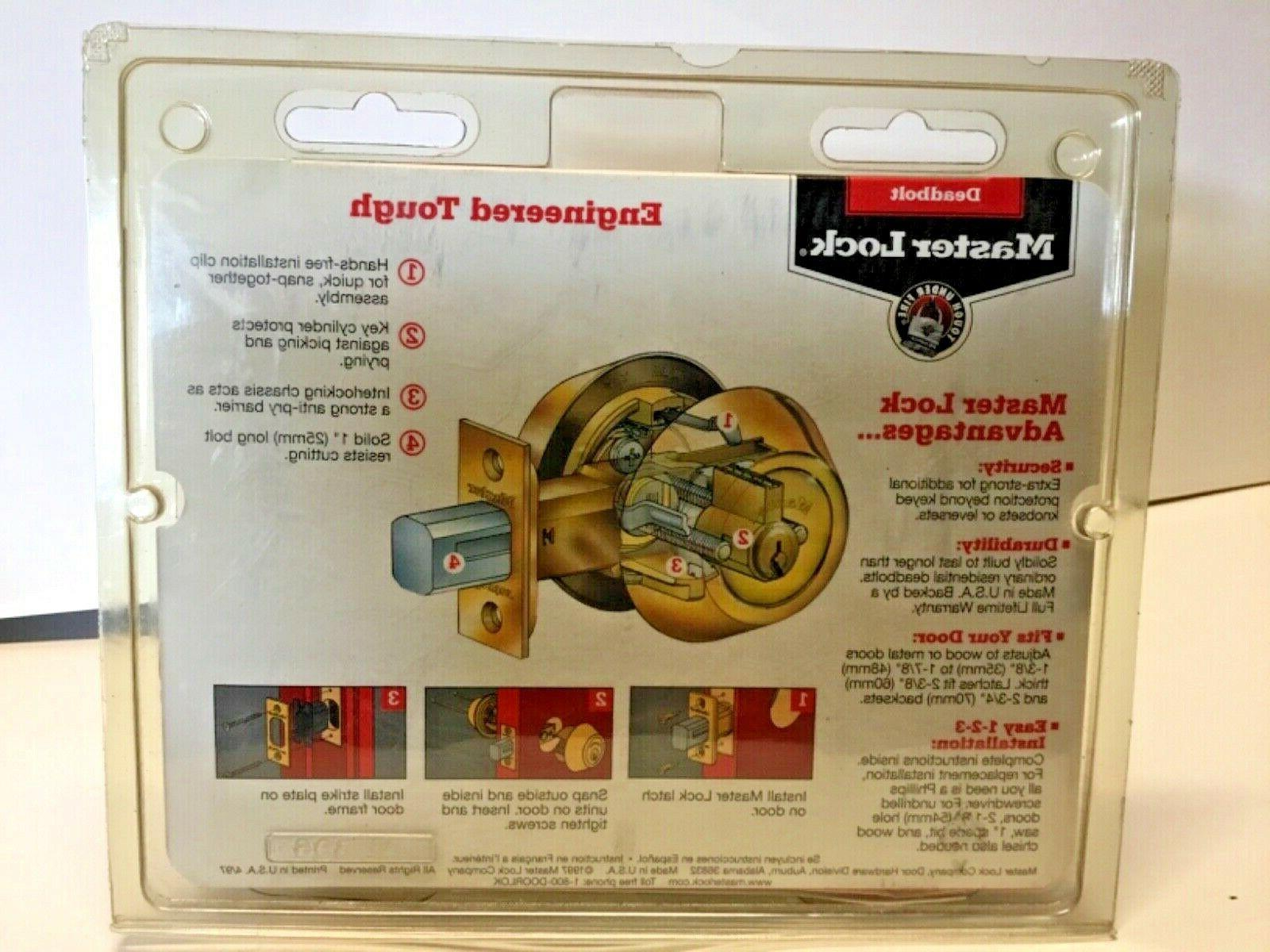 Master Lock with Bright Brass new