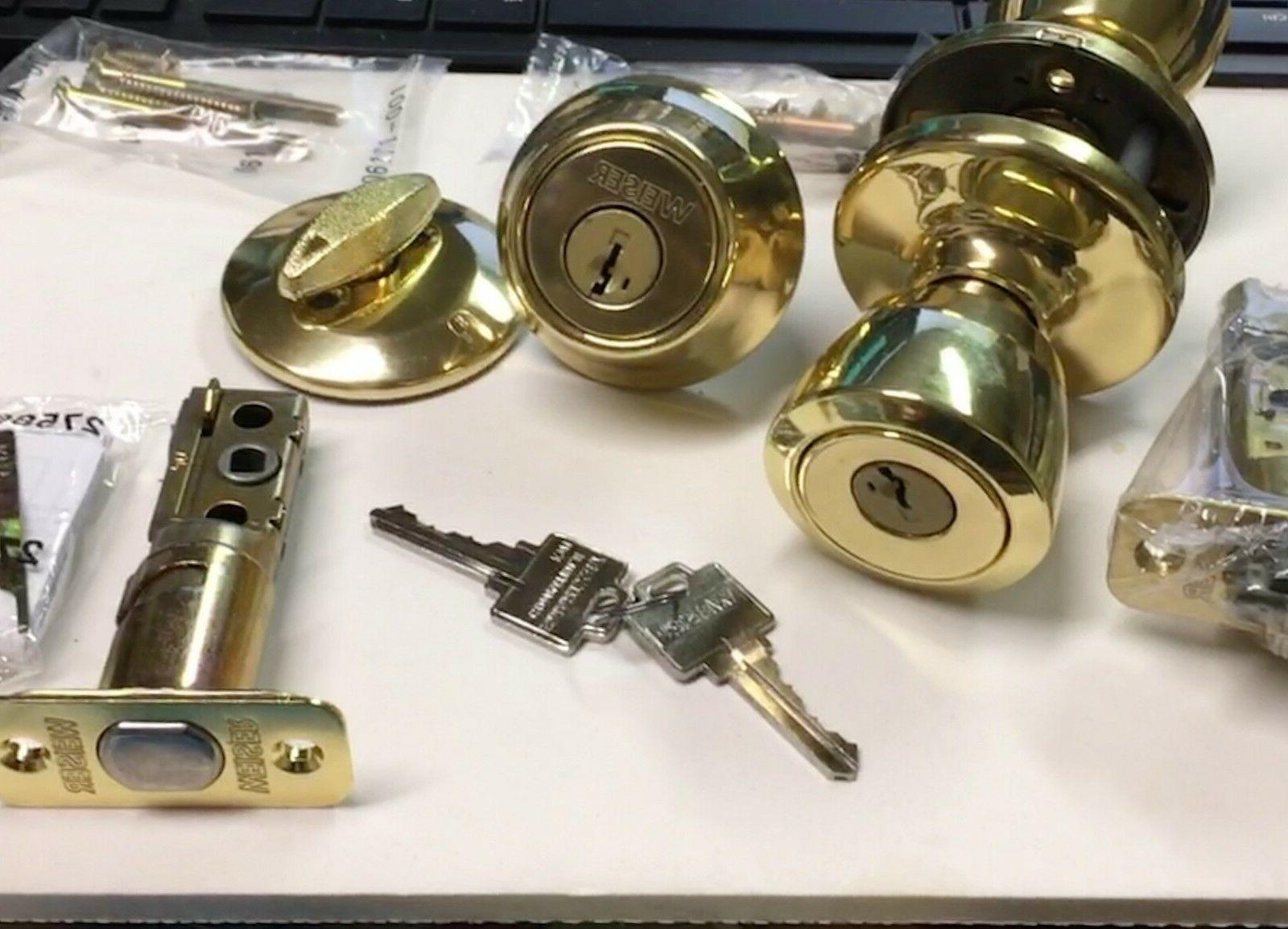 Exterior door lock set