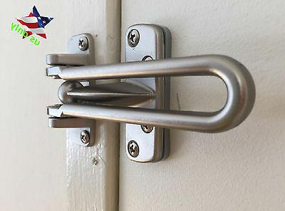 Home Guard Safety Lock Satin Nickel Swing Bar Entry Door Cha