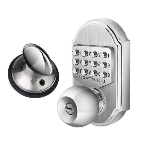 Keyless Mechanical Higher Security Deadbolt Door Lock W/2 Ke