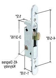 CRL Mortise Lock for Sliding Glass Patio Doors, Round End Fa