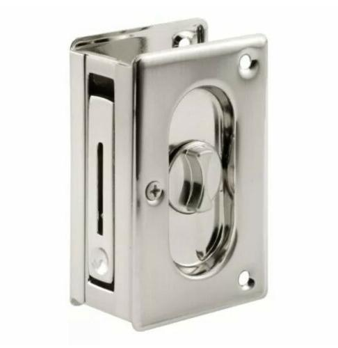 Prime Line Products N7367 Lock Pocket Door Satin Nickel