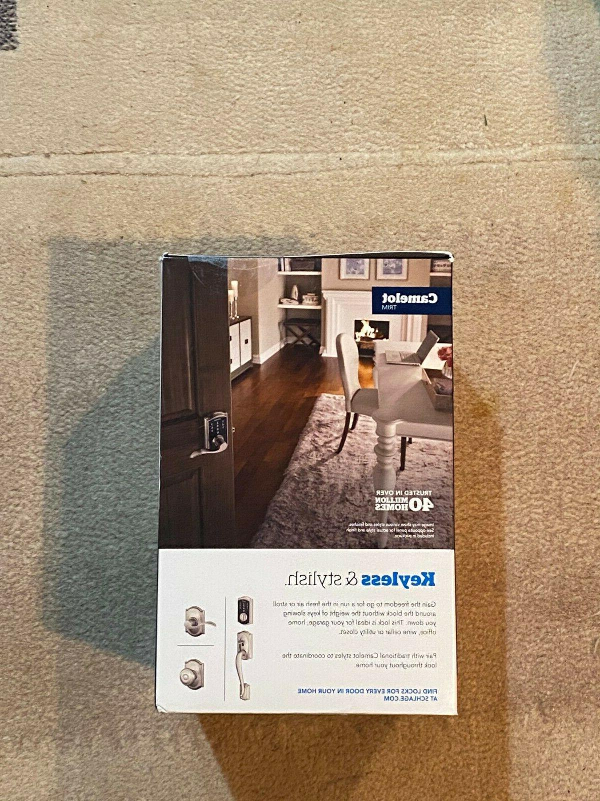 NEW Schlage Touchscreen Lever Camelot Lock - Satin
