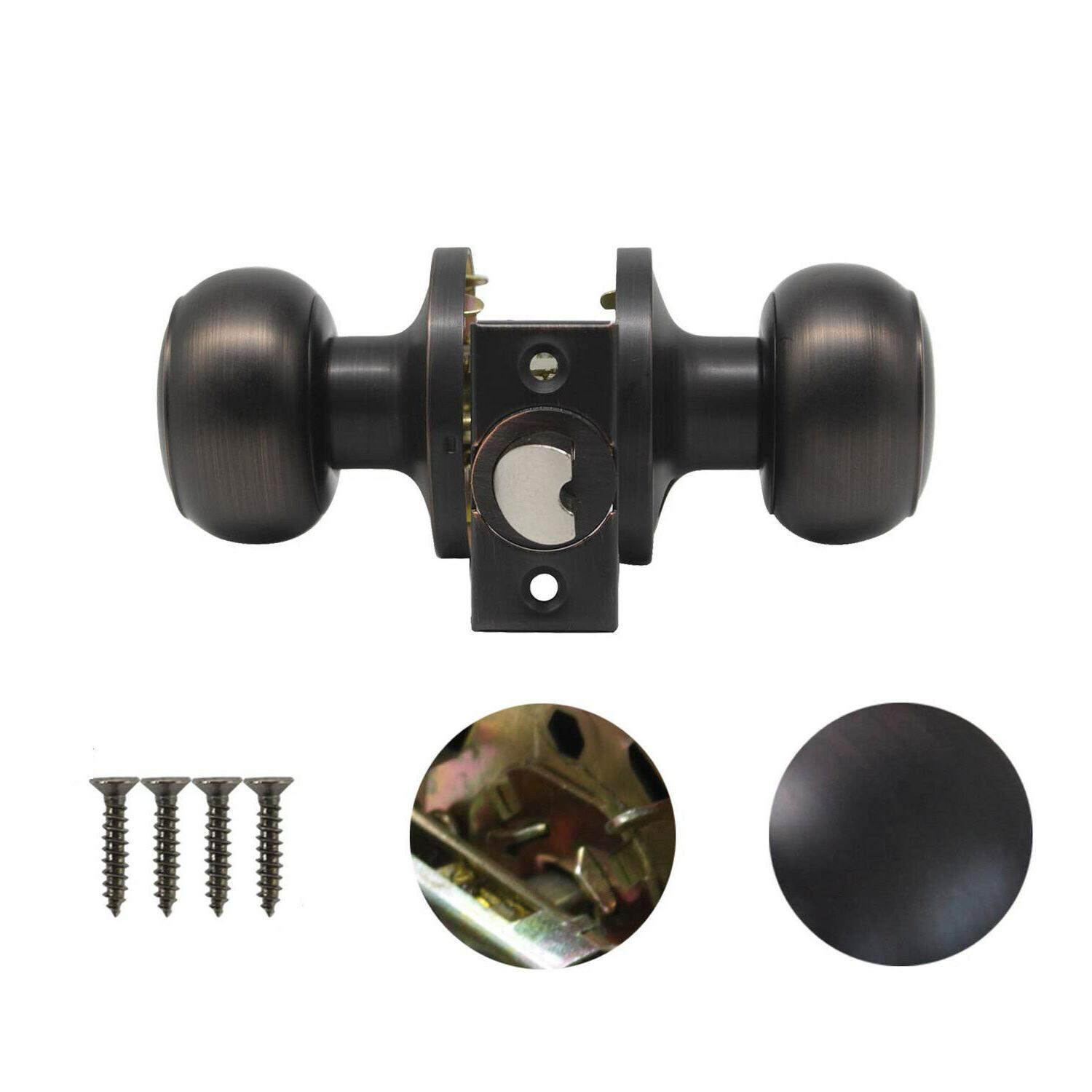 Oil Rubbed Lever Door Handles Entry/Passage Knobs