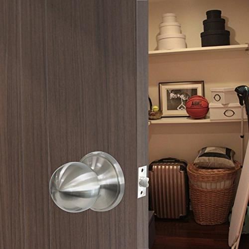 Probrico Door and Handles in Satin Nickel Locks