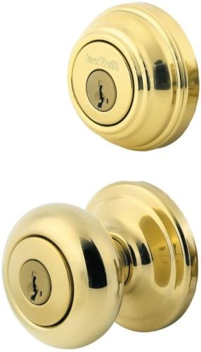 polished brass single cylinder entry