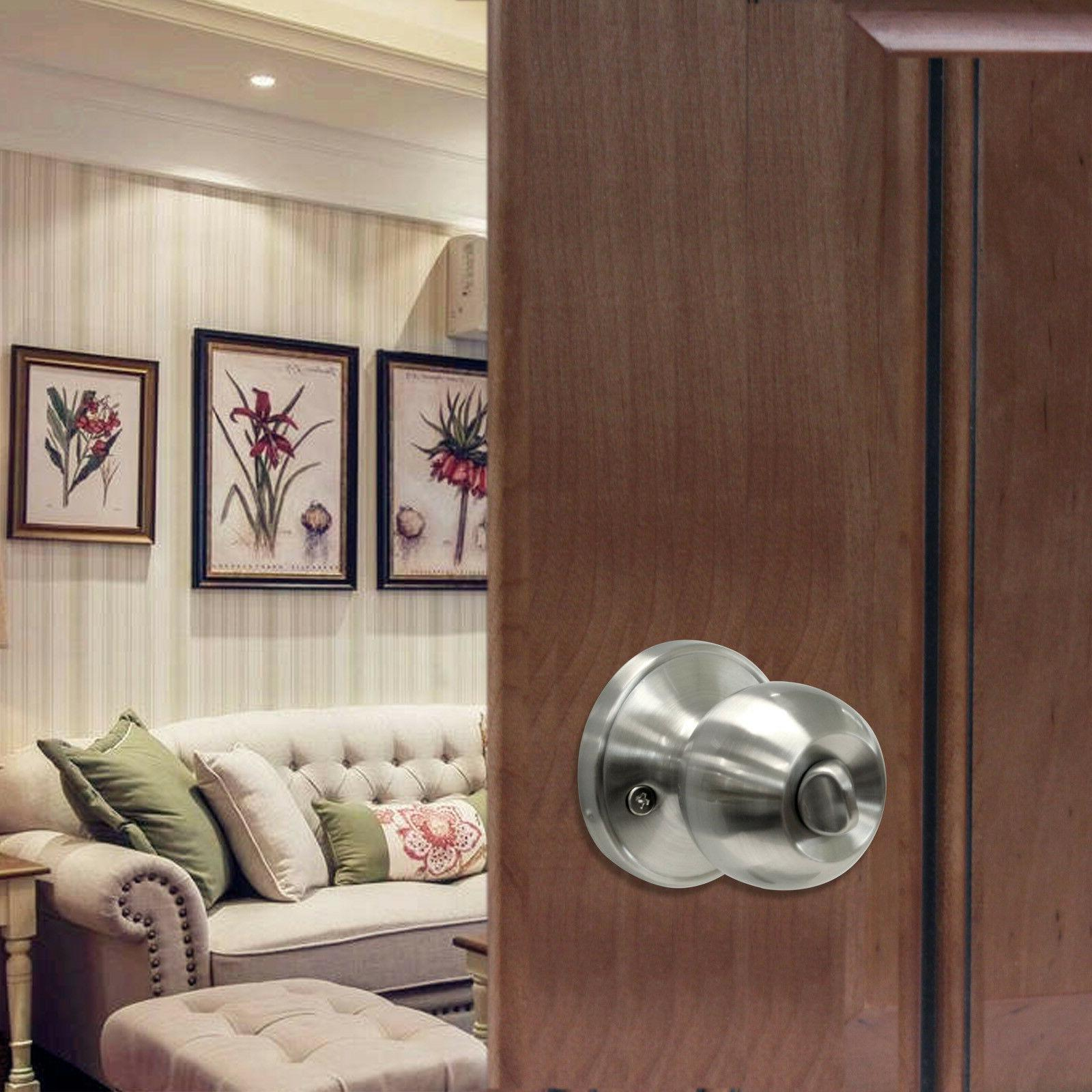 Satin Lever Handles Keyed Privacy