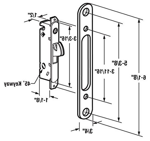 FPL #3-45-S Sliding Door Replacement with Plate, Screw Degree Keyway- YZD
