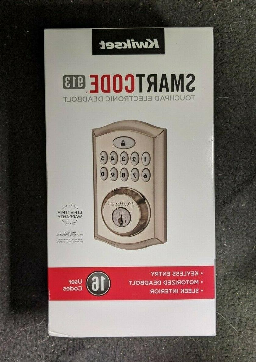 smartcode 913 touchpad electronic deadbolt 99130 002