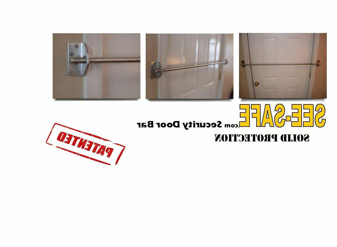 SEE-SAFE HOME SECURITY SOLID DOOR BAR LOCK NEW IN BOX BARRIC