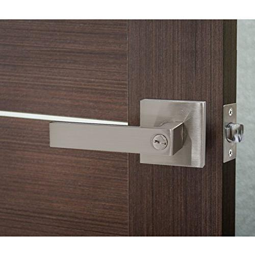 Probrico Square Door Levers for Bedroom or Lock,