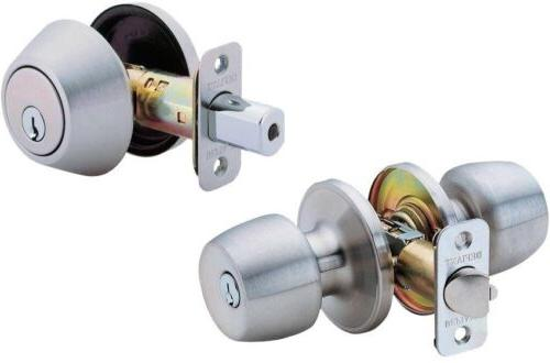 Stainless Steel Door Knob and Lock Combo Comes with 4 Sets o