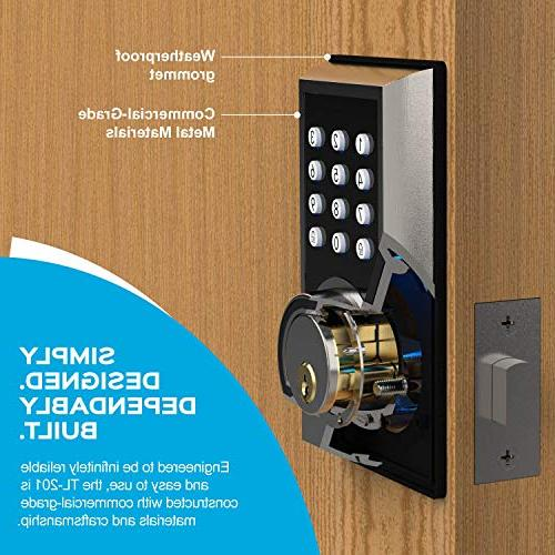 TURBOLOCK Deadbolt Entry Lock 21 Programmable + 3 Brush